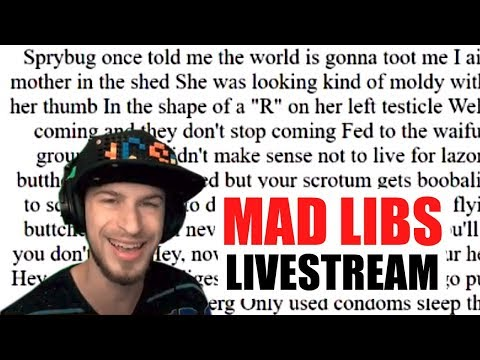 Custom Mad Libs w/ Viewers, Contraption Maker