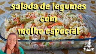 SALADA DE LEGUMES COM MOLHO ESPECIAL