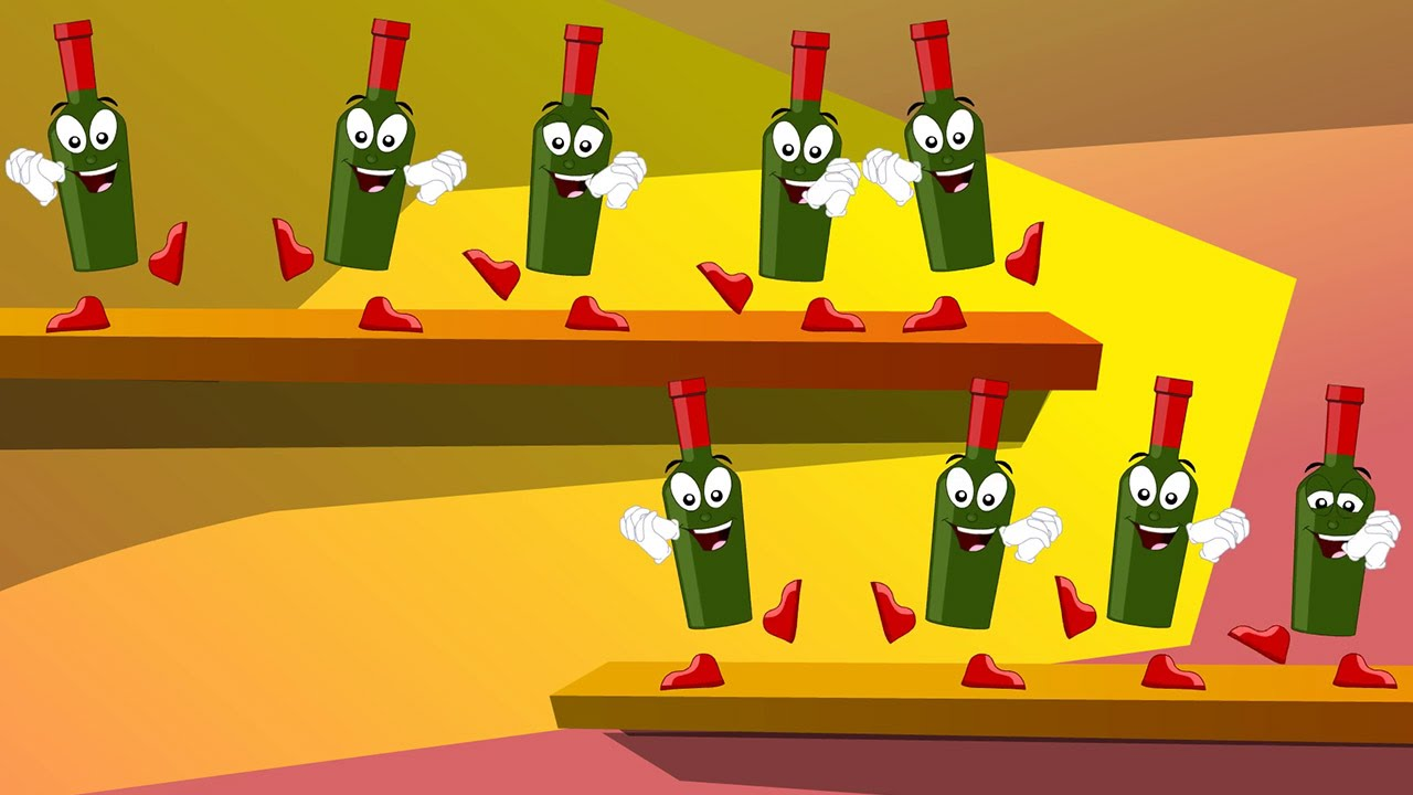 Ten Green Bottles Hanging On The Wall Song And Lyrics - Nursery ...
