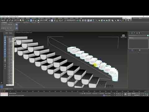 3dsmax Basics (Escalator modeling)