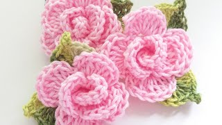 Flor em crochê para aplicação