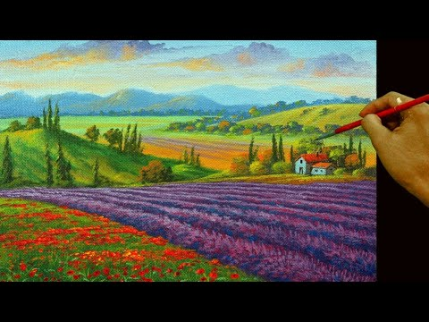 How To Paint Lavender Fields And Flowers In Tuscany