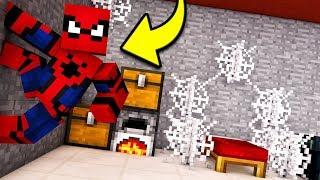 Я НАШЁЛ СЕКРЕТНЫЙ БУНКЕР ЧЕЛОВЕКА ПАУКА В Майнкрафт троллинг нуба Spider-man ps4 Minecraft Мультик