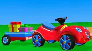 3D мультфильм: Мультик про Красную Машинку и Парк Аттракционов