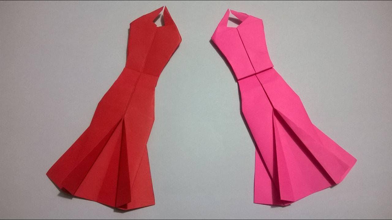 Origami Vestido De Papel How To Make An Origami Paper Dress