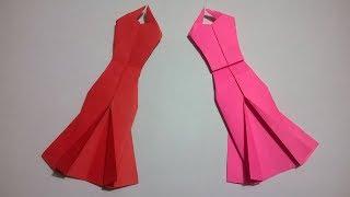 Origami Vestido de papel - How to make an origami paper dress
