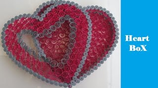 How to make Quilling 3D Heart Box | DIY | Tutorial | Gift Box