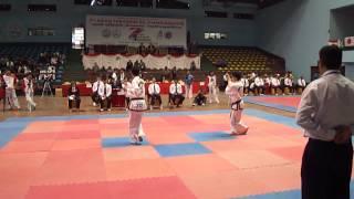 7th Asian Tkd Championships in Nepa  Senior Male Pattern 1st dan Tkm VS Jap 中川友太 2回戦1