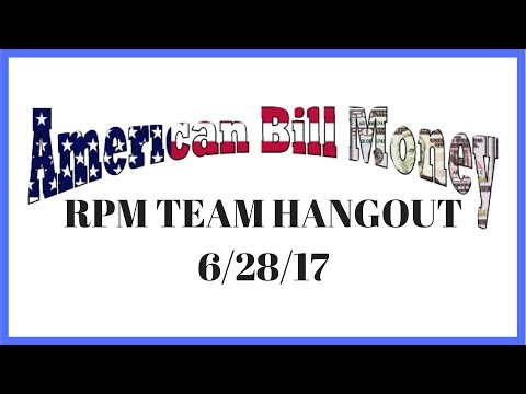 American Bill Money Review - Weekly Hangout 6-28-17 - Earn A Residual Income With Our Simple System