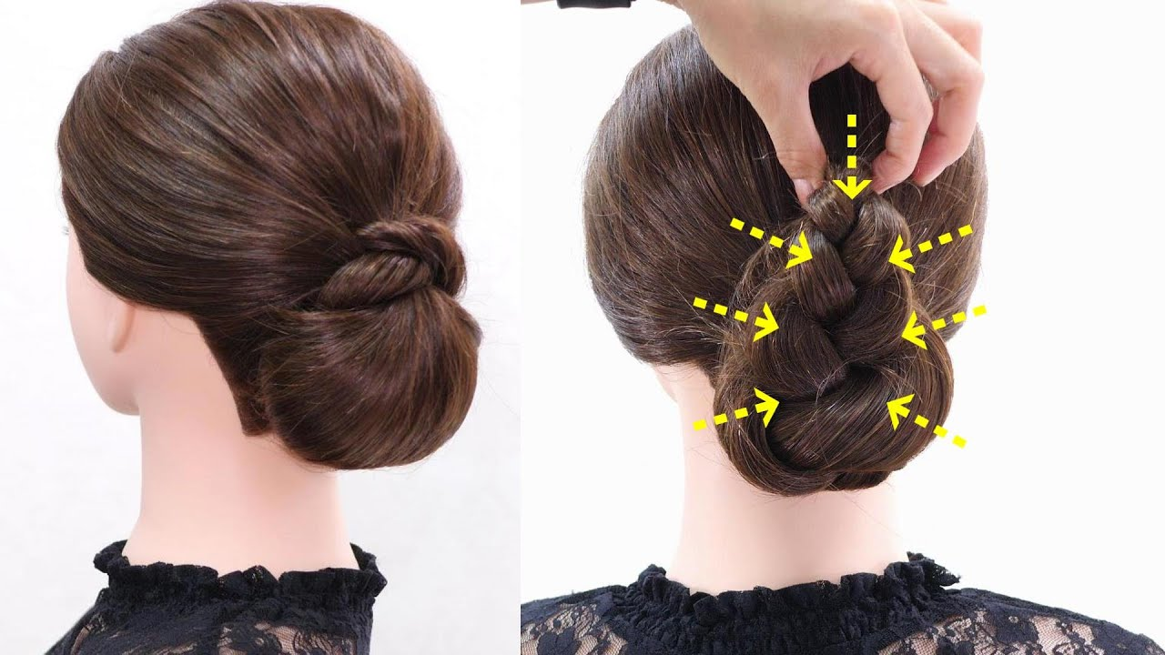 2 Easy Hairstyles//Low Chignon Hair Tutorial//Chie