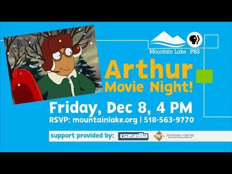 It's an Arthur Movie Night at Mountain Lake PBS!