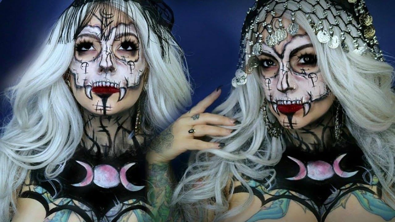 Voo doo Gypsy Witch Mashup   Halloween Makeup Tutorial - YouTube
