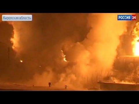 Russia: fuel train derails, catches fire near Kirov