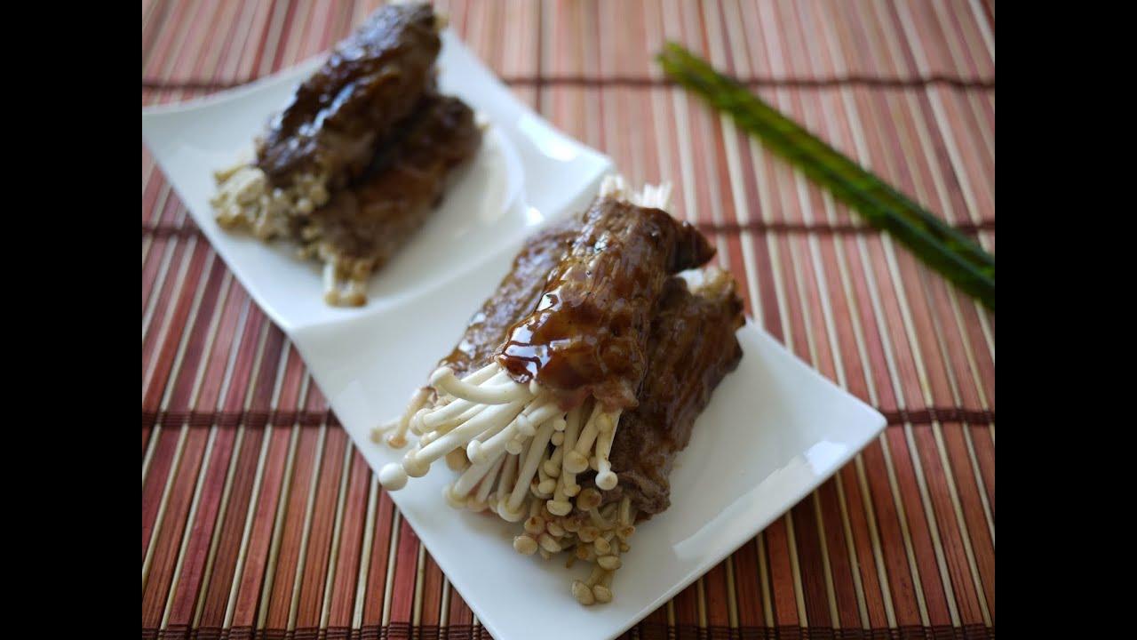 Hasil gambar untuk Masakan Enoki Roll Khas Jepang