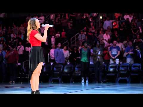 Aijia  National Anthem @ The Staples Center