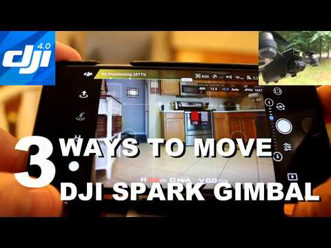 DJI Spark - 3 ways to control the gimbal!