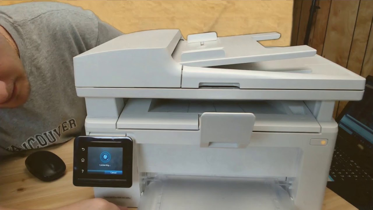 bb726e0af97 How to connect wireless HP printer to PC ans setup HP LaserJet Pro MFP  M130fw