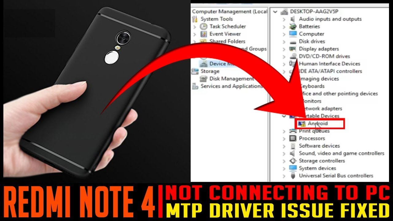 REDMI NOTE 4 NOT CONNECTING TO PC | FIXED | R…