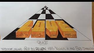 Graffiti Writing Tutorial 7 - REVLON study / homage (USING FELT TIP PENS!)