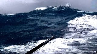 Vendée Globe - sailing in violent storm with 50 knots - Sturmsegeln im Southern Ocean
