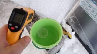 Реальный тест солнечного водонагревателя Баган, первый обзор солнечного коллектора.