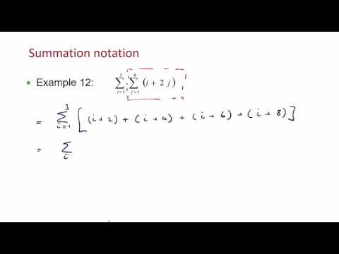 Lecture 1   double summation notation