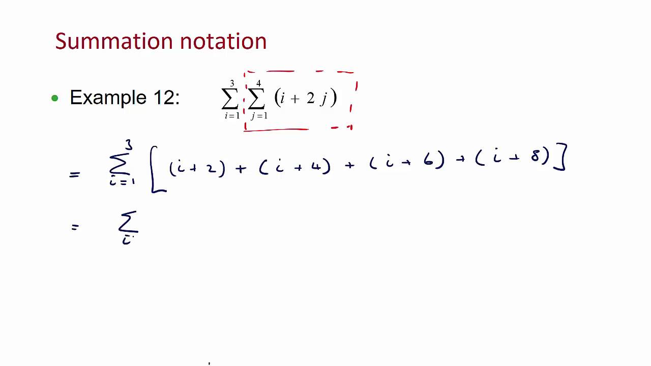 Lecture 1 Double Summation Notation Youtube