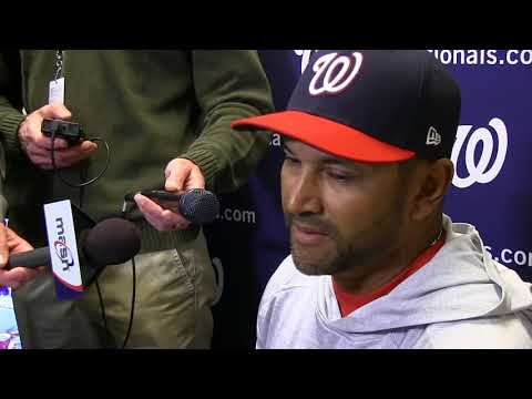 Davey Martinez gives injury updates before Game 2 of Nats-Mets