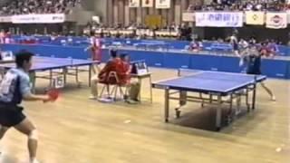 【卓球】渋谷浩 vs 偉関晴光 平成14度全日本
