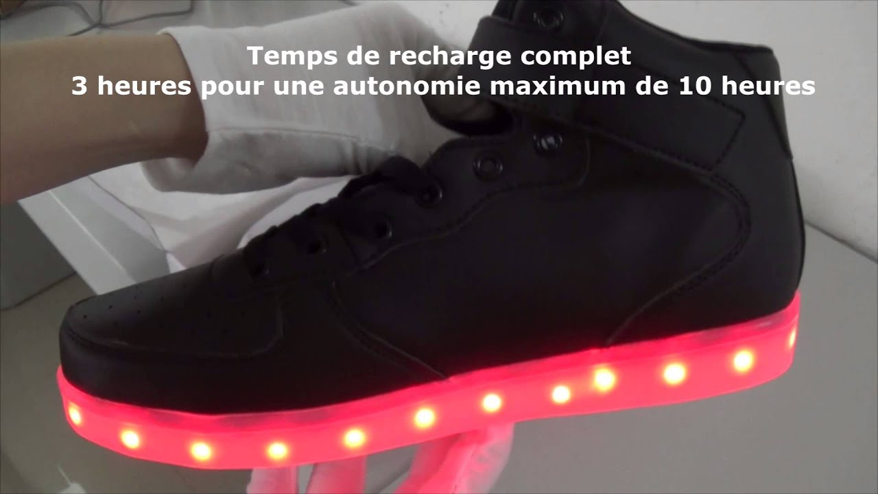 Comment est ce qu'on recharge des chaussures a led ?