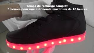 Basket led haute à LED noir - Démonstration allumage