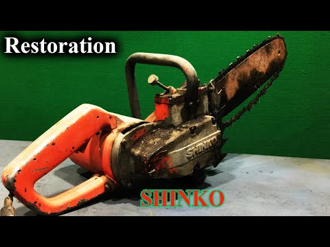 Restoration/How To Restore Very Old Electric Chainsaw /SHINKO Japan