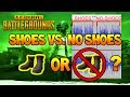 PlayerUnknown's Battlegrounds - Shoes vs. No Shoes, Are No Shoes Quieter? (PUBG)