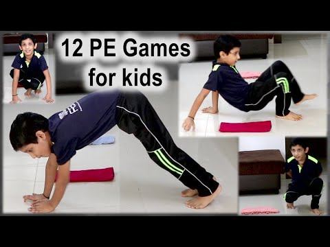 12 Fun physical education games at home | PE games | PE Home Learning | Indoor activities for kids