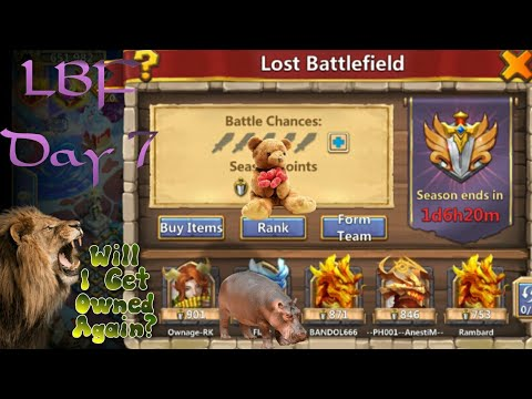 Castle Clash IGG DAY 7 - Lost Battlefield Sunday 26.1.20