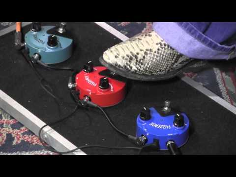 Dunlop Mini Fuzzface demo ALL 3 of them!  Hendrix Germanium Silicon
