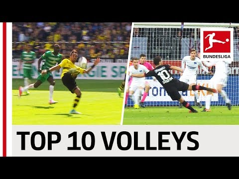 Top 10 Volley Goals 2016/17 Season - Thunderbolts and Acrobatics with Gnabry, Aubameyang & More