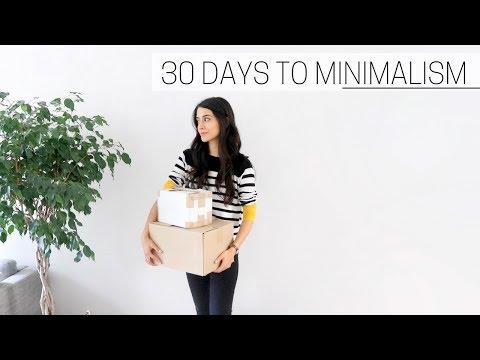30 DAYS TO MINIMALISM » + printable guide