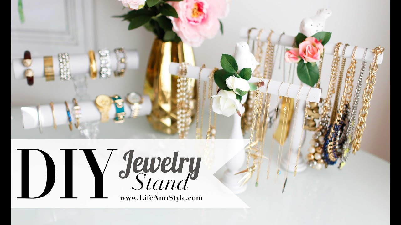 Diy Necklace Holder Diy Easy Necklace Bracelet Holder Room Decor Ann Le Youtube