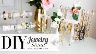 Diy Necklace & Bracelet Holder {spring Decor} Anneorshine