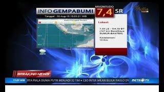 Gempa Banten 7,4 SR Berpotensi Tsunami Terasa Hingga Jakarta
