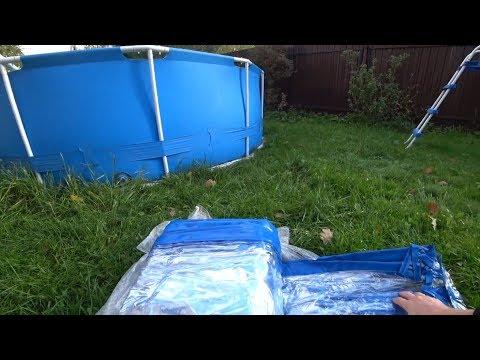 Теперь Всегда Теплая вода в Бассейне! Кристально чисто с дешевым средством! Каркасный Бассейн