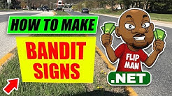 How To Make Bandit Signs For Cash Buyers and Motivated Sellers | Wholesaling Houses