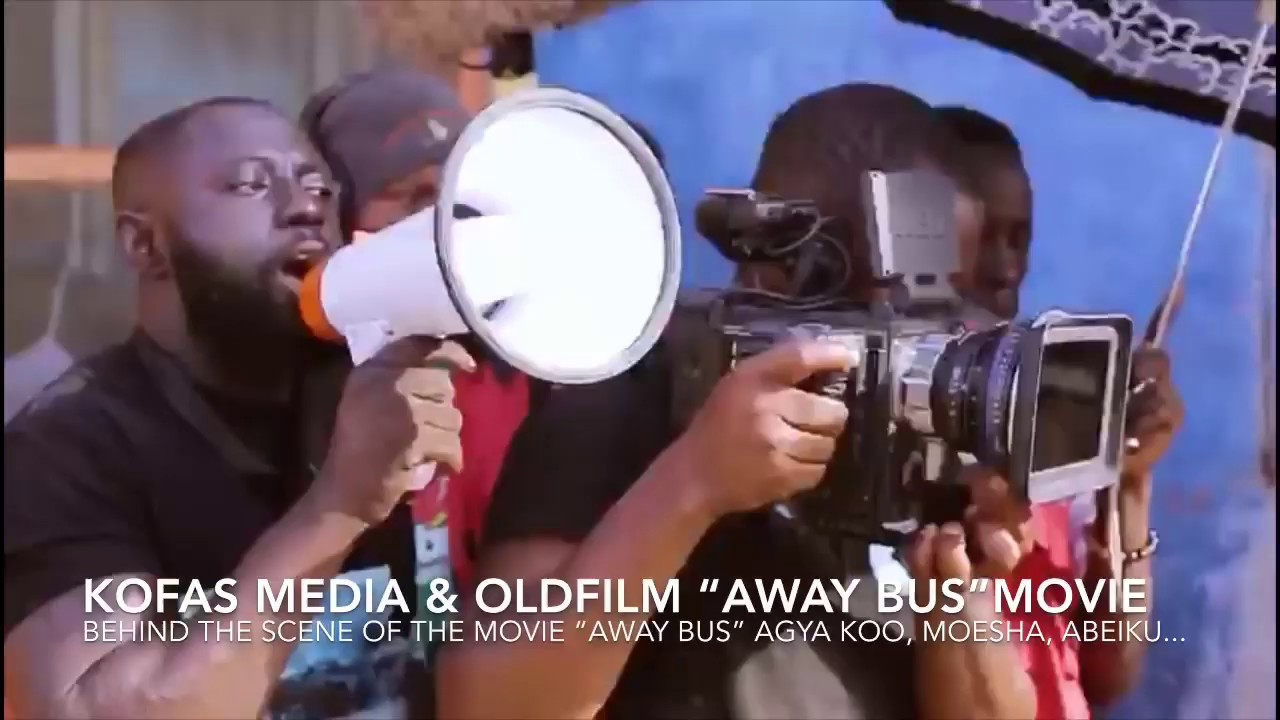 "Download Behind The Scene Of ""Away Bus""  Movie Starring Yaw Dabo, Akrobeto, Moesha, Agya Koo, Akuapim polo"
