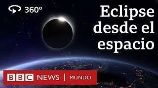 La increíble imagen de un eclipse solar total en 360 grados