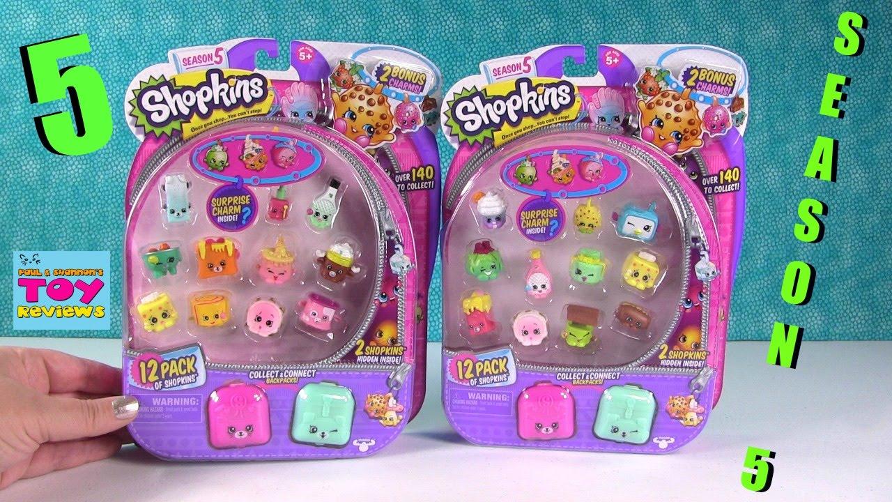 Shopkins SEASON 5 12 Packs Electro Glow Tech Opening Toy Review