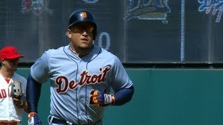 4/12/15: Miggy hits two homers as Tigers top Indians