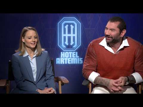 Hotel Artemis Cast and Director Interviews - Jodie Foster, Dave Bautista, Drew Pearce Mp3