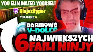6 BIGGEST NINJA FAILI IN FORTNITE - GRATUIT V-DOLCE