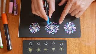 Mandalas Paso a Paso con Puntillismo en Espiral | Dot Painting Mandala Spiral Tutorial